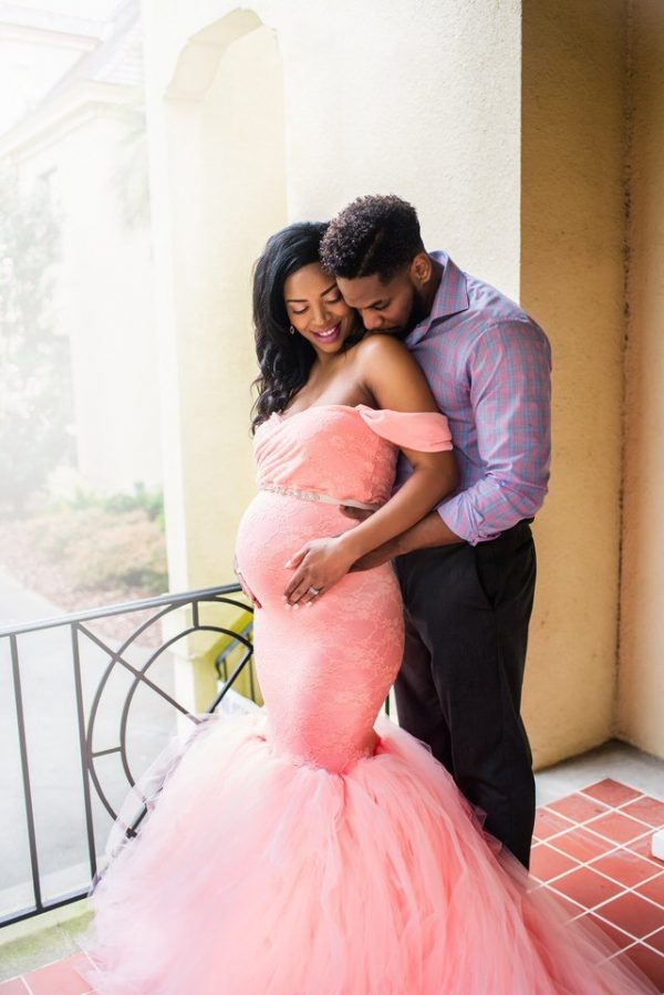 Sew Trendy Celine Large Blush Pink Maternity Gown and Dress