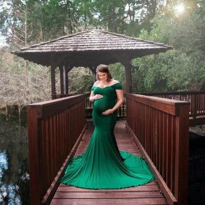 Chicaboo Athena Medium Emerald Green Maternity Gown and Dress