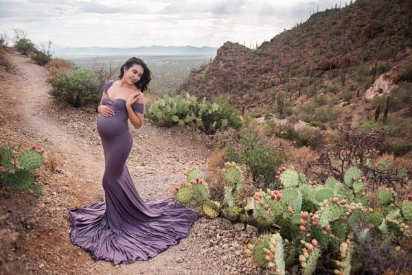 Chicaboo Athena Medium Dusty Amethyst Purple Maternity Gown and Dress