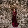 Chicaboo Sansa Velvet Medium Red Maternity Gown and Dress