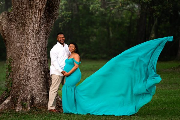 Sew Trendy Angela XS Jade Green Maternity Gown and Dress