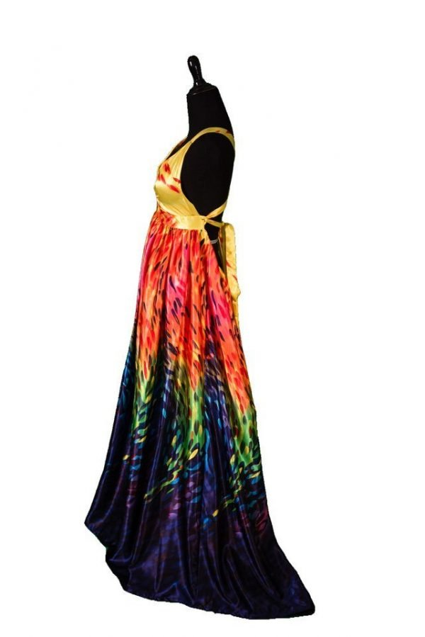 CRC Custom Rainbow Maternity Gown Rental XS X-Small