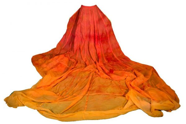 Vintage Hand-dyed Ombre Rainbow Photography Parachute Skirt for Rent