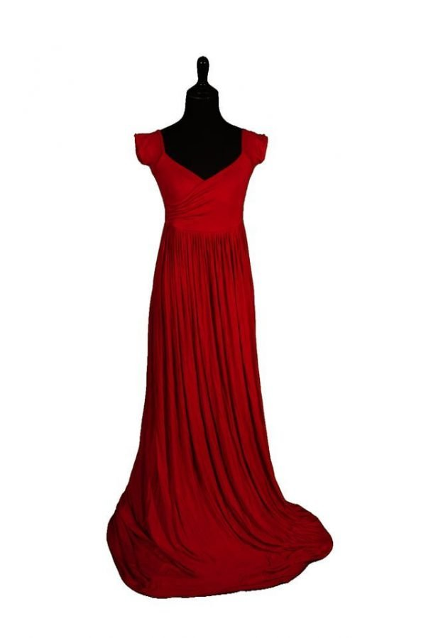 Sew Trendy Kiara Small Red Maternity Gown and Dress
