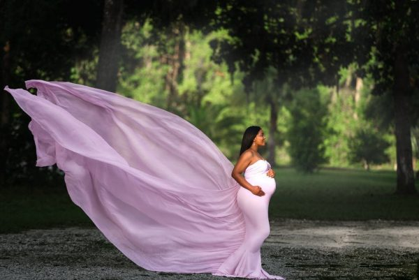 Mii Estilo Maternity Gown Small Pink Maternity Gown Rental - Camera Ready Couture