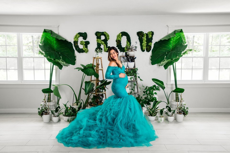 Sew Trendy Celine Small Jade Green Maternity Gown and Dress